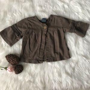 Naartji Infant Brown Button Flare Cardigan